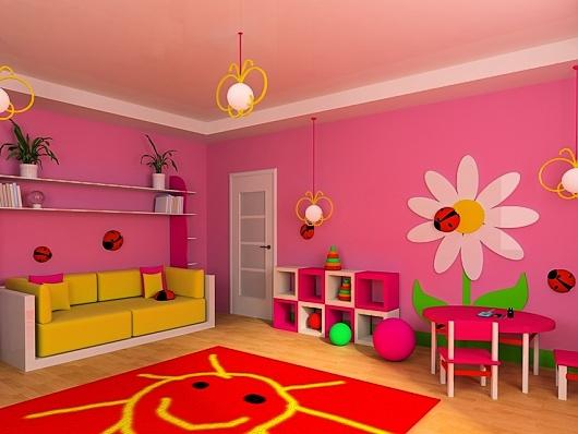 barevný nábytek do dětského pokoje